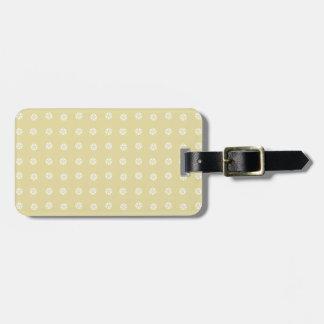 Zitronen-Blumen-Muster Gepäckanhänger