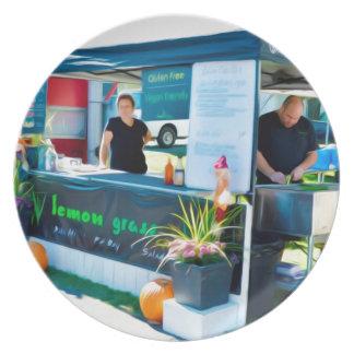 Zitronen-Gras-Grill Bahn MI Huhn Teller