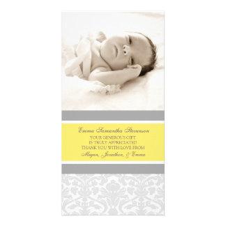 Zitronen-Grau danken Ihnen Bilderkarten