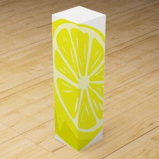 Zitronen-halbe Wein-Geschenkboxen Wein-Geschenkverpackung