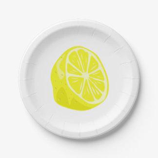 Zitronen-halber Pappteller