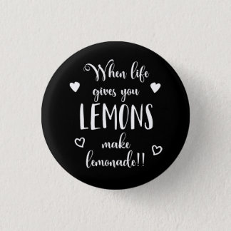 Zitronen-Haltungs-Erfolg träumt motivierend Zitat Runder Button 2,5 Cm