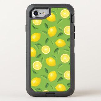 Zitronen-Hintergrund-Muster OtterBox Defender iPhone 8/7 Hülle