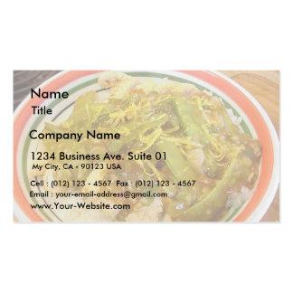 Zitronen-Huhn-Abendessen-Nahrungsmittelkochen Visitenkarten
