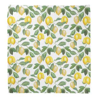 Zitronen, Illustration. Obst Halstuch