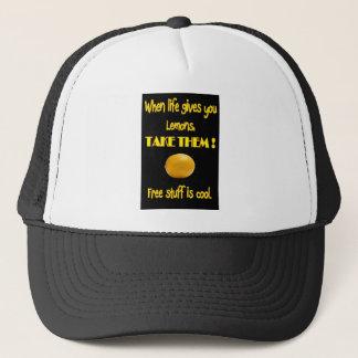 Zitronen in Leben T-Shirt und Kleidern Truckerkappe
