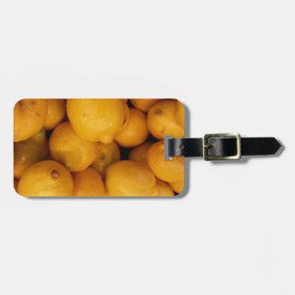 Zitronen Kofferanhänger