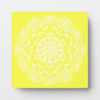 Zitronen-Mandala Fotoplatte