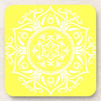 Zitronen-Mandala Getränkeuntersetzer