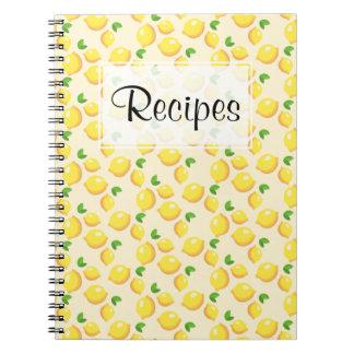 Zitronen-Rezept-Zeitschrift Notizblock