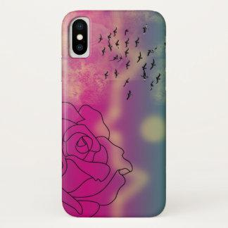 Zitronen-Rosentelefonkasten iPhone X Hülle