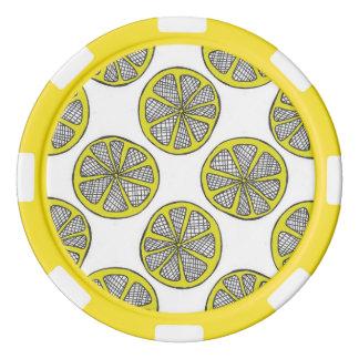 Zitronen-Scheibe-Poker-Chips Poker Chip Set