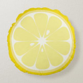 Zitronen-Scheibe Rundes Kissen