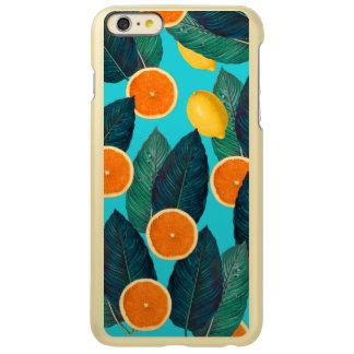 Zitronen und Orangen aquamarin