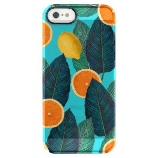 Zitronen und Orangen aquamarin Durchsichtige iPhone SE/5/5s Hülle