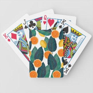 Zitronen und Orangen weiß Bicycle Spielkarten