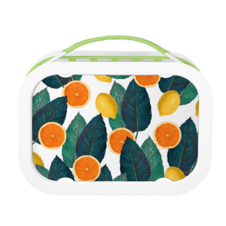 Zitronen und Orangen weiß Brotdose