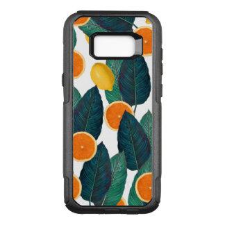 Zitronen und Orangen weiß OtterBox Commuter Samsung Galaxy S8+ Hülle