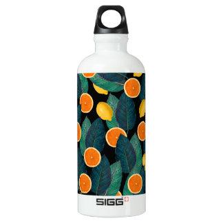 Zitronen- und Orangenschwarzes Aluminiumwasserflasche