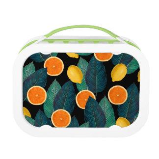 Zitronen- und Orangenschwarzes Brotdose
