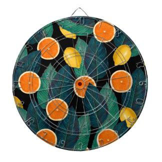 Zitronen- und Orangenschwarzes Dartscheibe