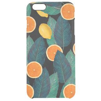 Zitronen- und Orangenschwarzes Durchsichtige iPhone 6 Plus Hülle