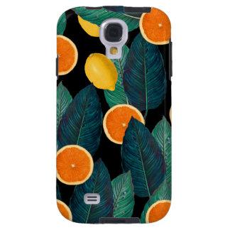 Zitronen- und Orangenschwarzes Galaxy S4 Hülle