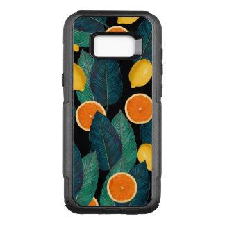 Zitronen- und Orangenschwarzes OtterBox Commuter Samsung Galaxy S8+ Hülle
