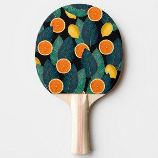 Zitronen- und Orangenschwarzes Tischtennis Schläger