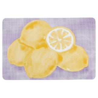 Zitronen-Wäsche kariert Bodenmatte