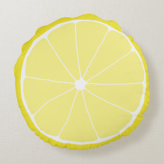 Zitronen-Wohngestaltung, Meyer-Zitronen-Kissen, Rundes Kissen