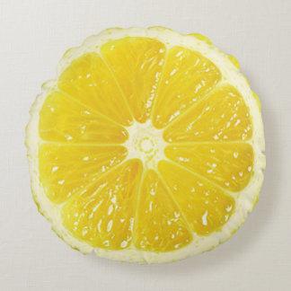 Zitronen-Wurfs-Kissen Rundes Kissen
