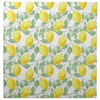 Zitronenbaum-Muster Serviette