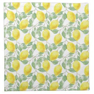 Zitronenbaum-Muster Stoffserviette