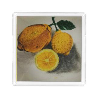 Zitronenbehälter Acryl Tablett