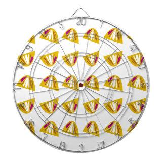 Zitronenentwurfsgold Dartscheibe