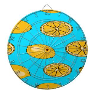 Zitronenfruchtmuster Dartscheibe