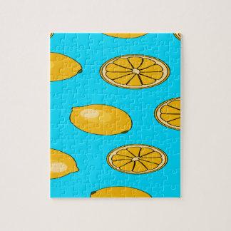 Zitronenfruchtmuster Puzzle