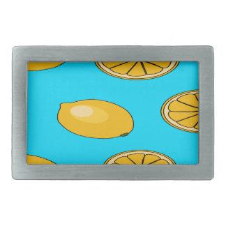 Zitronenfruchtmuster Rechteckige Gürtelschnalle