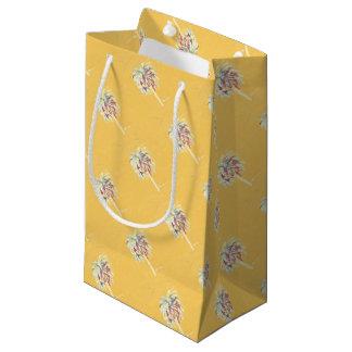 Zitronengelbe Palme-Geschenkverpackung Kleine Geschenktüte
