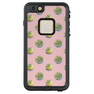Zitronenmalereimuster des Pastellrosas LifeProof FRÄ' iPhone 6/6s Plus Hülle
