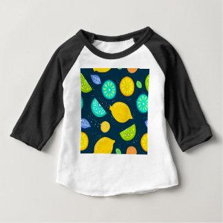 Zitronenmuster Baby T-shirt