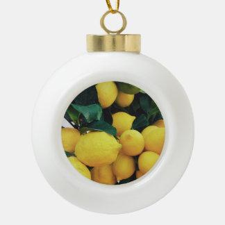 ZitronenObstbaum Keramik Kugel-Ornament