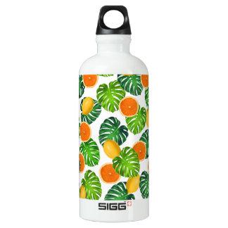 Zitronenorangen monstera Weiß Wasserflasche