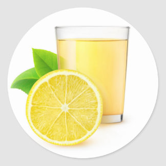 Zitronensaft Runder Aufkleber