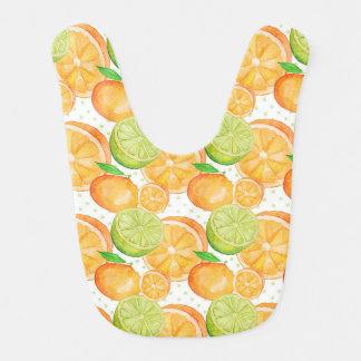 Zitrusfrucht-Aquarell Babylätzchen