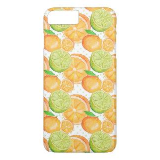 Zitrusfrucht-Aquarell iPhone 8 Plus/7 Plus Hülle
