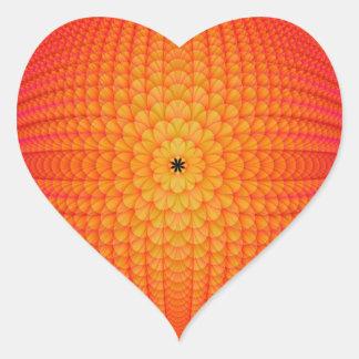 Zitrusfrucht-Bereich-Aufkleber Herz-Aufkleber