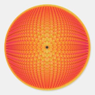 Zitrusfrucht-Bereich-runder Aufkleber