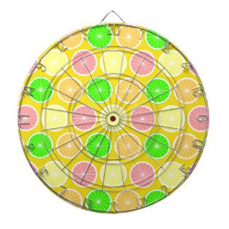 Zitrusfrucht Dartscheibe